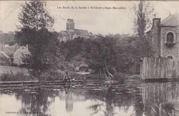 61. SAINT CENERI . CPA. PÊCHEUR SUR LES BORDS DE LA SARTHE. ANNÉE 1905 + TEXTE - Autres Communes