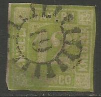 Bavaria - 1850-8 Numeral 12k Yellowish-green Used    SG 30 - Beieren