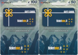 Gift Card Italy Ticketone  Complete Set 2 Cards - Gift Cards