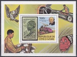 Elfenbeinküste Ivory Coast Cote D'Ivoire 1979 Postwesen Philatelie Philately Persönlichkeiten Rowland Hill, Bl. 14 ** - Côte D'Ivoire (1960-...)