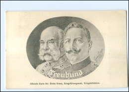 U3973/ Kaiser Franz Josef  + Kaiser Wilhelm Rotes Kreuz, Kriegsfürsorge AK 1915 - Königshäuser