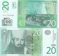 Serbia 20 Dinara 2006. UNC AE Prefix - Serbie