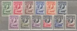 BECHUANALAND 1955 MNH /MVLH(**) Mi 129-140, SG 143-153 #23286 - Bechuanaland (...-1966)