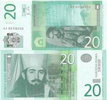 Serbia 20 Dinara 2011. UNC  AA Prefix - Serbie