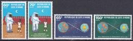 Elfenbeinküste Ivory Coast Cote D'Ivoire 1979 Weltraum Weltall Space Raumfahrt Mondlandung Moonlanding, Mi. 602-5 ** - Côte D'Ivoire (1960-...)