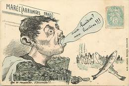 -ref-B162- Illustrateurs - Illustrateur - Marchand D Huitres - Huitre -  Marchands - Ostreiculture - Carte Bon Etat - - 1900-1949