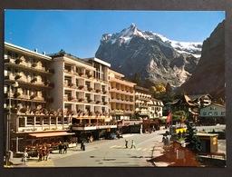Grindelwald Dorfplatz Mit Postauto - BE Berne