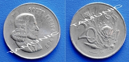 SOUTH AFRICA SUID AFRIKA 20 Cents 1965 FLOWER PROTEA (English Legend) - South Africa