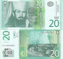 SERBIA 20  DINARA 2013. UNC  AA Prefix - Serbie