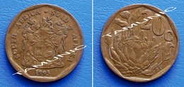 SOUTH AFRICA SUID AFRIKA 20 Cents 1993 FLOWER PROTEA - South Africa