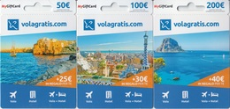 Gift Card Italy Vola Gratis In Regalo Per Te Complete Set 3 Cards - Gift Cards