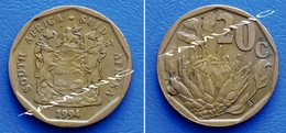 SOUTH AFRICA SUID AFRIKA 20 Cents 1994 FLOWER PROTEA - South Africa