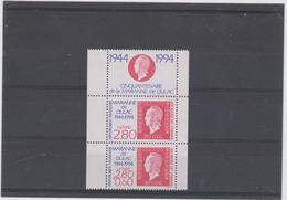 FRANCE 2 T En Paire + Vignette Journée Du Timbre 1994 N°YT P2864Aa -  50ans Marianne De Dulac - Neufs