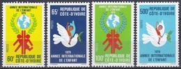 Elfenbeinküste Ivory Coast Cote D'Ivoire 1979 Organisationen UNO ONU UNICEF Kinder Children Taube Doves, Mi. 587-0 ** - Côte D'Ivoire (1960-...)