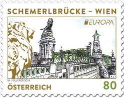 Austria - 2018 - Europa CEPT - Bridges - Vienna's Schemerl Bridge - Mint Stamp - 1945-.... 2de Republiek