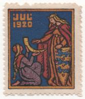 Denmark 1920, Julemaerke, Christmas Stamp, Vignet, Poster Stamp - Denmark