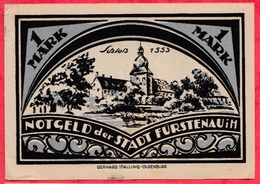 Allemagne 1 Notgeld De 1 Mark Stadt Fürstenau  (RARE) Dans L 'état  N °2834 - Collections