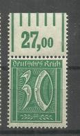 """Deutsches Reich 162WOR """"Briefmarke Mit 30 In Rechtsck (WZ Waffeln)Oberrand  """" Postfr. Mi.:3,50 - Ungebraucht"""