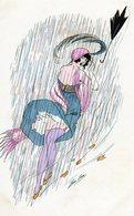 Illustrateur Sager Xavier, Femme Sous La Pluie, Parapluie, Ed B G 558 - Sager, Xavier
