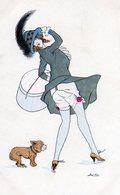 Illustrateur Sager Xavier, Femme Sous Le Vent, Jupe Relevée, Ed B G 558 - Sager, Xavier