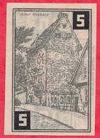 Allemagne 1 Notgeld De 5 Pfenning Stadt Wunstorf Dans L 'état  N °2848 - [ 3] 1918-1933 : République De Weimar