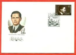Estonia 1991 (USSR Ocсupation). Paul Keres. FDC. - Chess
