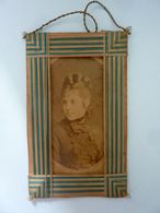 """Fotografia All'Albumina """"Ritratto Di Giovane Donna FOTOGRAFO H.LE LIEUR ROMA"""" 1875 Circa - Persone Identificate"""