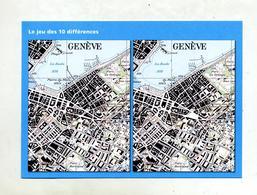 Carte  Geometre Suisse Jeu Des Differences Geneve - Autres