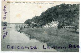 - 4087 - CHAMPTOCEAUX - ( Maine Et Loire ), Vue Prise Du Pont D'Oudon, De L'usure, écrite, BE, Scans. - Autres Communes