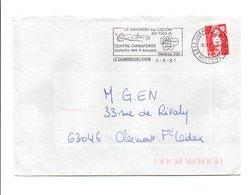FLAMME DE LE CHAMBON SUR LIGNON HAUTE LOIRE 1991 - Marcophilie (Lettres)