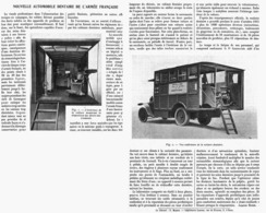"""LA NOUVELLE AUTOMOBILE """" DENTAIRE """"  De L'ARMEE FRANCAISE  1916 - Transports"""