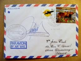 Cover Argentina Special Cancel 1997 Mushrooms Animals Bird Ship Map Antartida Antarctica Signature Autograph - Argentina