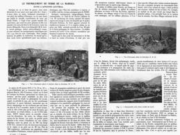 "LE TREMBLEMENT De TERRE De La MARSICA ( AVEZZANO - PASCOSOLIDO Prés De SORA ) ""LE 13 JANVIER 1915 "" 1916 - Avezzano"