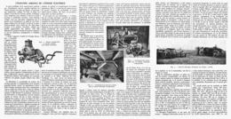 UTILISATION AGRICOLE De L'ENERGIE ELECTRIQUE  1916 - Technical
