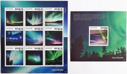 Nevis 2014** Klb.2938-46.+Bl.352. Aurora Borealis MNH [16;133] - Astrologie