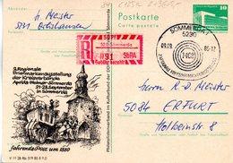 (FC-9) DDR GZS M.priv.ZD P84/C125a Mit SbPA-Gebührenzettel 523 Sömmerda (091) SSt. SÖMMERDA 1, 9.9.1985 - Postkarten - Gebraucht