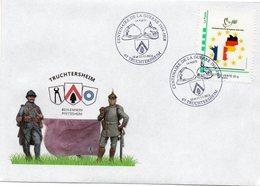 TRUCHTERSHEIM (BAS RHIN): GUERRE 14-18 Oblitération Temporaire CENTENAIRE DE L'ARMISTICE Env Illustrée MTAM CONCORDANT - WW1