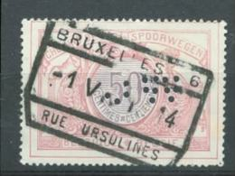 13354 Belgien Spoorwegen Eisenbahn Perfin Lochung - Perforés
