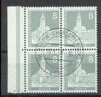 08831 Berlin Bauten II Nr. 143 4er Block Zentr. Gest. Ca. 50 Euro Michel - Briefe U. Dokumente