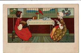 CPA - Carte Postale - Belgique - Fantaisie -  Deux Jeunes Femmes Assises- S4772 - Mujeres