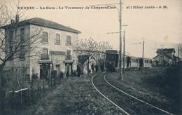 I14 - 38 - BERNIN - Isère - La Gare - Le Tramway De Chapareillan Et L'Hôtel Janin - Frankreich