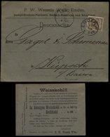 S5534 - DR Werbung Postkarte Wessels Fisch Weisskohl:gebraucht Emden - Küpsch 1895, Bedarfserhaltung. - Deutschland
