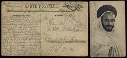 S4965 Algerien Deutsche Kriegsgefangenen Postkarte Mit Zensur: Gebraucht Französisches Gefangenen Lager 1128 Tizi Ouzo - Allemagne