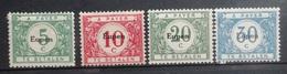 BELGIE  Bezetting  1920    OC  101 - 104   (*)  Niet Gebruikt Zonder Gom - Guerre 14-18
