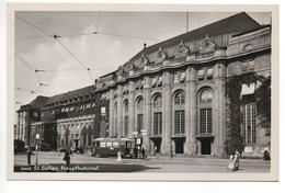 ST. GALLEN Bahnhof Mit Tram (Werbung Cafe Stadler Conditorei) - SG St. Gall