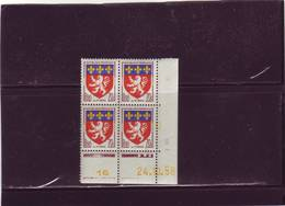 N° 1181 - 70c Blason De LYON - A De A+B - Tirage Du 23.10.58 Au 4.11.58 - 24.10.1958 - - Coins Datés