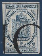 France Journaux N°2, 2c Bleu Obliteration Typo Des Journaux  Tres Frais  Superbe ! - Periódicos