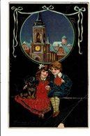 CPA - Carte Postale - Belgique - Fantaisie - Bonne Année -avec Deux Jeunes-1910 S4774 - Nouvel An