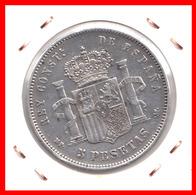 ESPAÑA MONEDA DE (( ALFONSO XIII PLATA )) 5 PESETAS ( DURO EL PELON ) AÑO 1888 M-PM - Primeras Acuñaciones