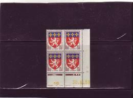 N° 1181 - 70c Blason De LYON - A De A+B - Tirage Du 23.10.58 Au 4.11.58 - 30.10.1958 - - Coins Datés